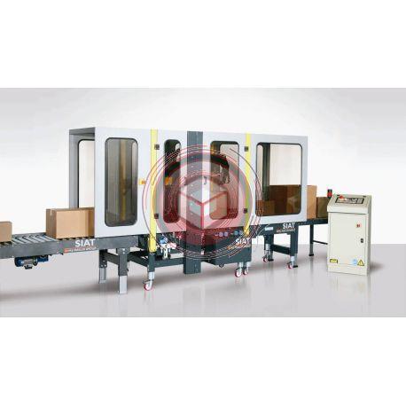 Zaklejarka kartonów SIAT SM44/4HS -AS26/HS  Automat dopasowujący się do różnej wielkości kartonów.